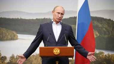 Președintele Rusiei, Vladimir Putin, face declaratii de presă