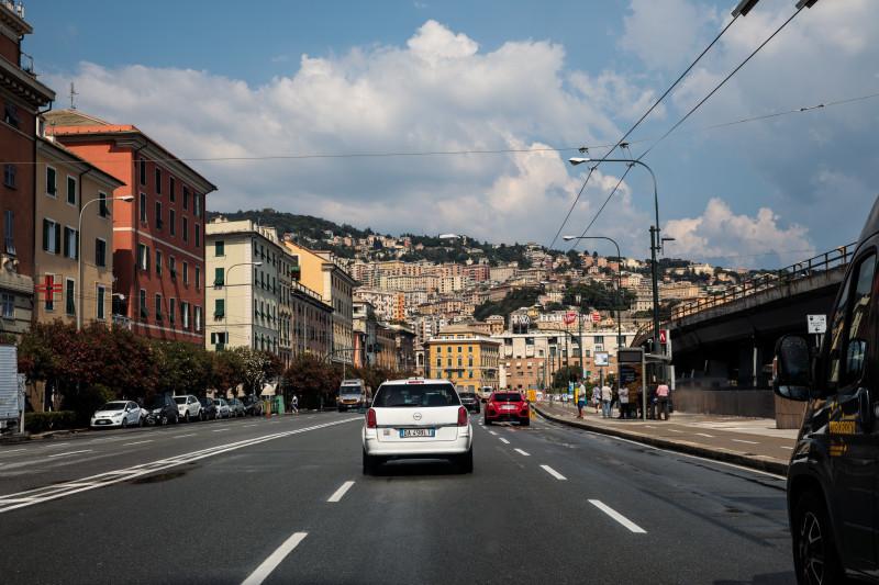 Aftermath Of The Morandi Bridge Collapse in Genoa