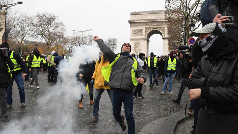 proteste veste galbene paris franta