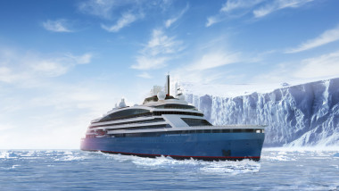 Navă polară construită cu tablă de la Galaţi