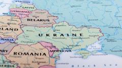 harta europa de est belarus, rusia, romania