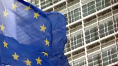 Drapeau européen flottant devant le Berlaymont