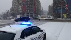 politisti iarna masina