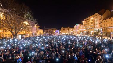 Protest against violence in Poznan after Mayor of Gdansk Pawel Adamowicz died