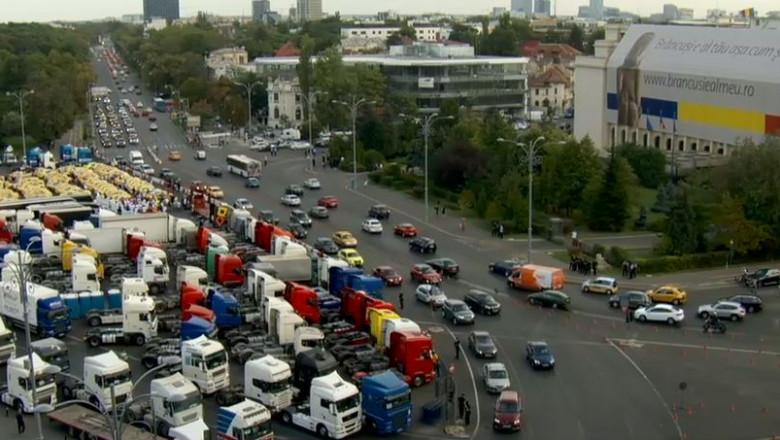 aglomeratie protest transportatori
