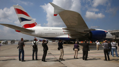 British Airways Celebrates Ipppppnaugural Airbus A380 Flight From London To Dulles