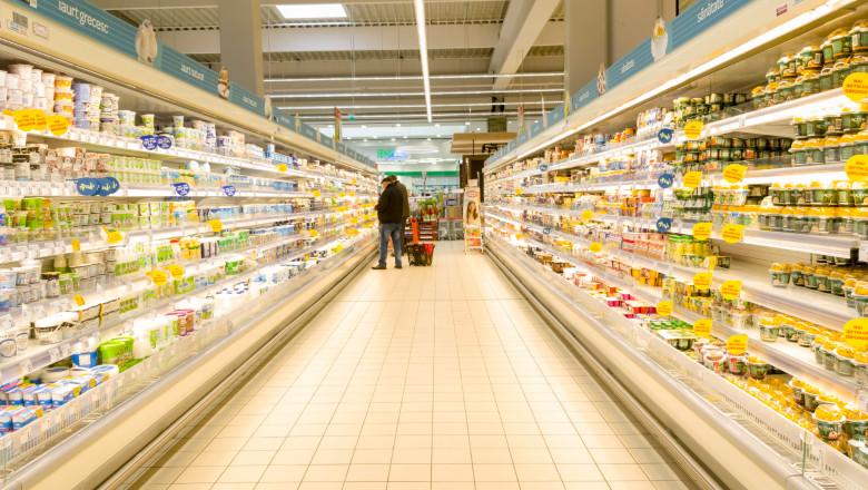 hypermarket supermarket cumparaturi lactate