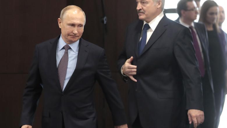 vladimir putin si Alexander Lukashenko