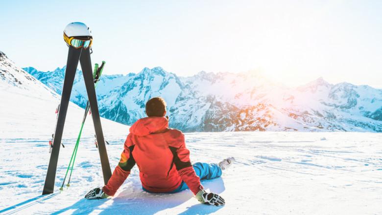 frig, munte, zapada, ski