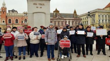 protest dizabilitati