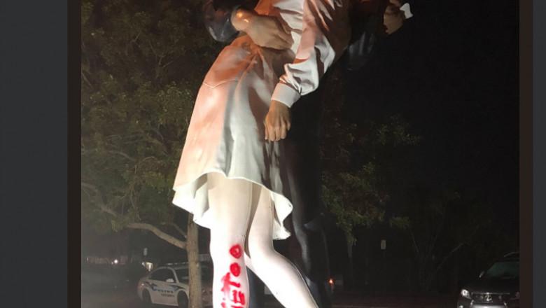 statuie vandalizata
