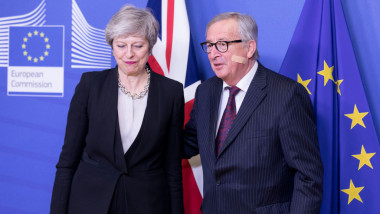 British PM Theresa May Visits Brussels For Further Brexit Talks