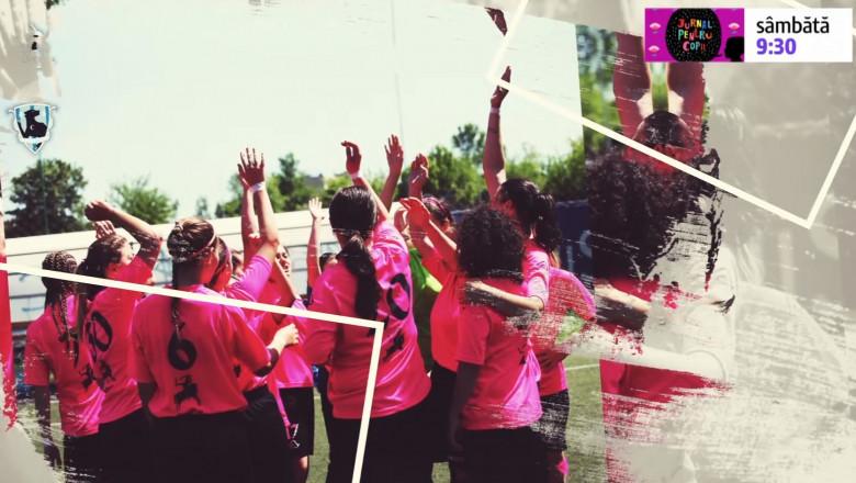 fotbal feminin jurnal pentru copii