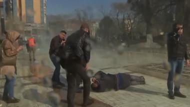 albania proteste gaze lacrimogene