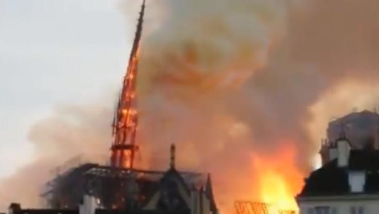 incendiu catedrala notre dame din paris