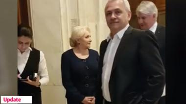 Liviu Dragnea si Viorica Dancila inainte de CEX al PSD