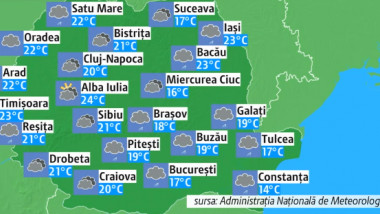 Prognoza meteo pentru miercuri, 10 aprilie 2019. Vreme instabilă în toată țara, ninsori la munte