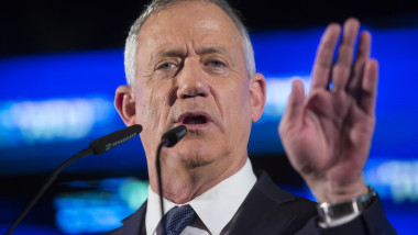 Benny Gantz Holds His Election Campaign Closing Rally