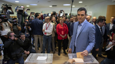 Spanish Candidates Vote At General Election