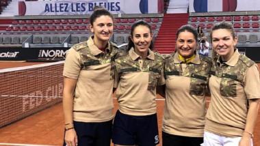 fed cup romania franta 2019, militari, mapn, simona halep