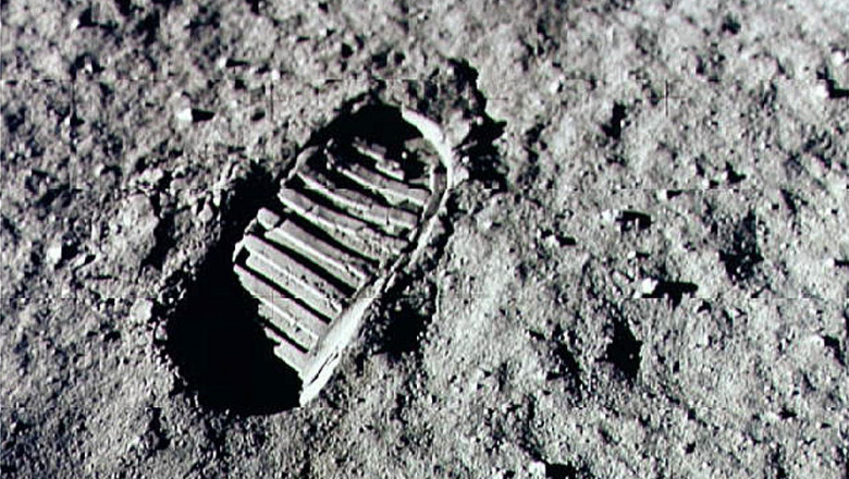 Apollo 11 Mission Leaves First Footprint on Moon