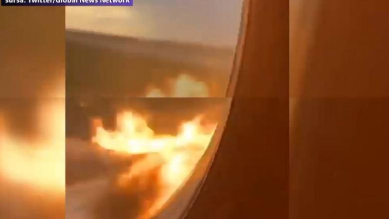 incendiu avion