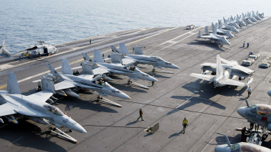 Pilots From USS Abraham Lincoln Patrol No Fly Zone Over Iraq