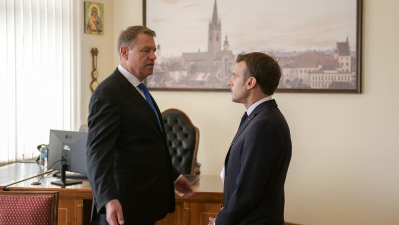 klaus-iohannis-emmanuel-macron-birou-primar-sibiu-presidency (2)