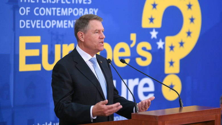 IOHANNIS LA PODIUM EUROPES FUTURE 2-PRESIDENCY