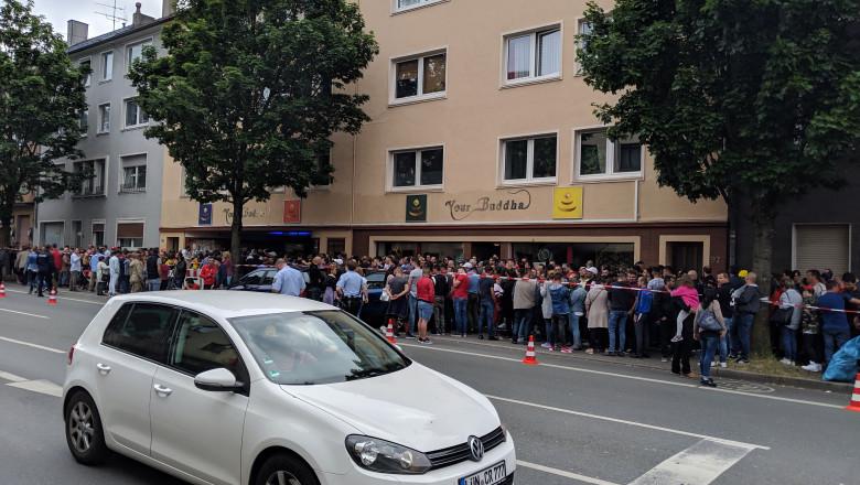 Coadă vot la Bochum alegeri europarlamentare 2019 si referendum pe justitie