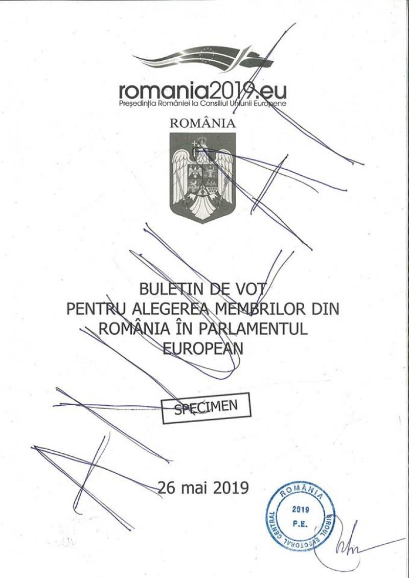 model buletin alegeri europarlamentare - pagina 1