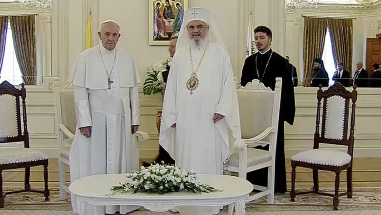 papa francisc patriarhul Daniel