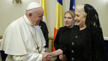 viorica dancila papa francisc palatul cotroceni