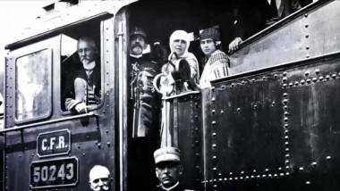 regele ferdinand si regina maria in tren