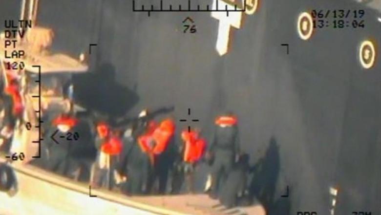 conflictul iran sua - explozii in marea oman - imagini desecretizate de pentagon