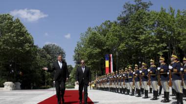 Klaus Iohannis și Abdel Fattah El-Sisi, președintele Egiptului