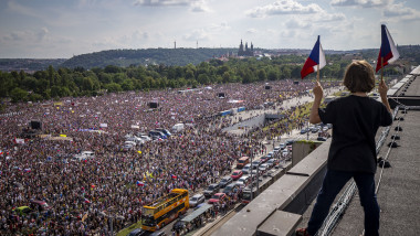 Thousands Attend Anti-Government Protests In Prague