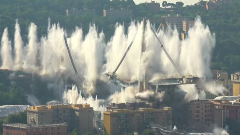 podul Morandi din Genova a fost demolat