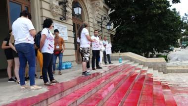 Protest la Facultatea de Drept din Iași