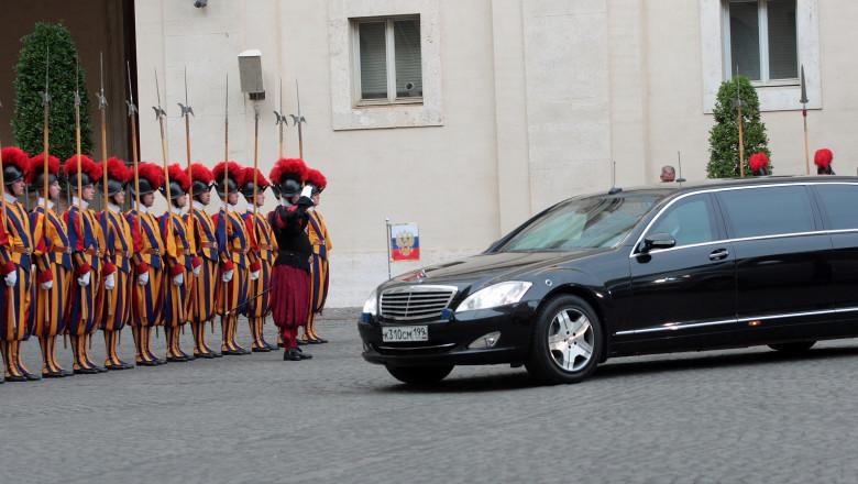 Pope Meets President Of Russian Federation Vladimir Putin
