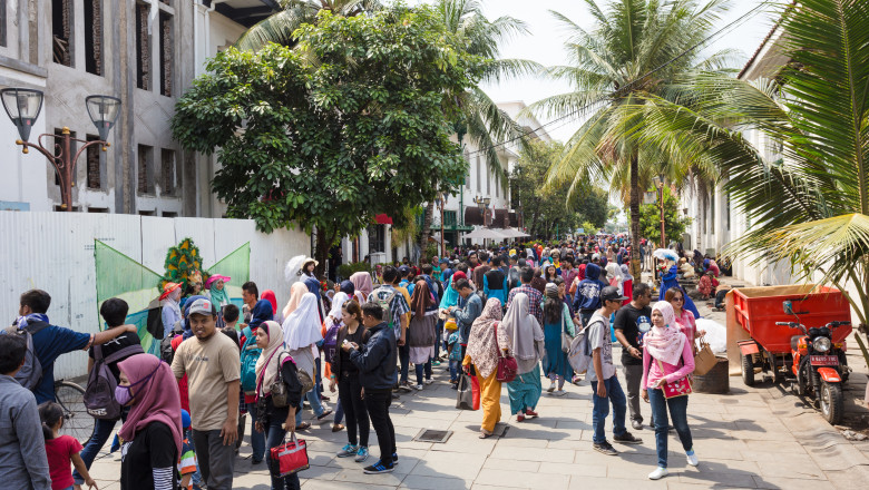 Jakarta old town in Indonesia capital city.