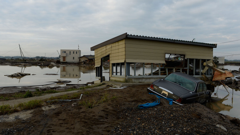 Rescue Work Continues After Japan Flooding