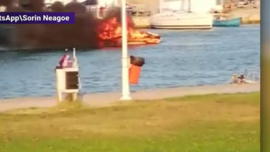 incendiu barca