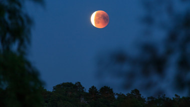 Blood moon in norway