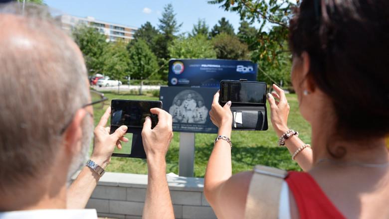 placa comemorativa aselenizare - fb politehnica