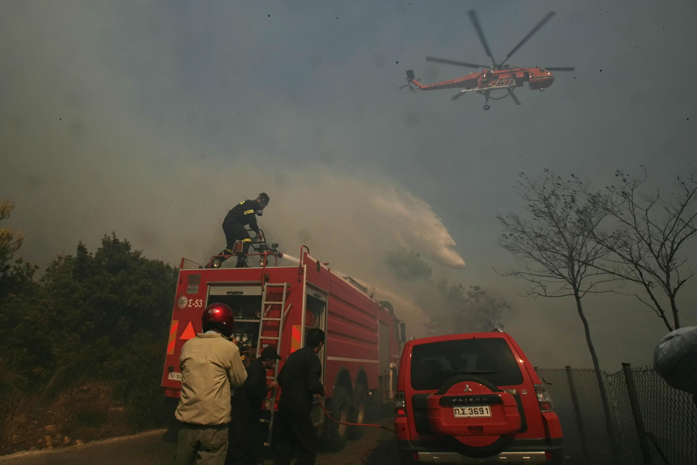 Risc de incendii în mai multe zone din Grecia. Pericolul este estimat la nivelul 4 din 5