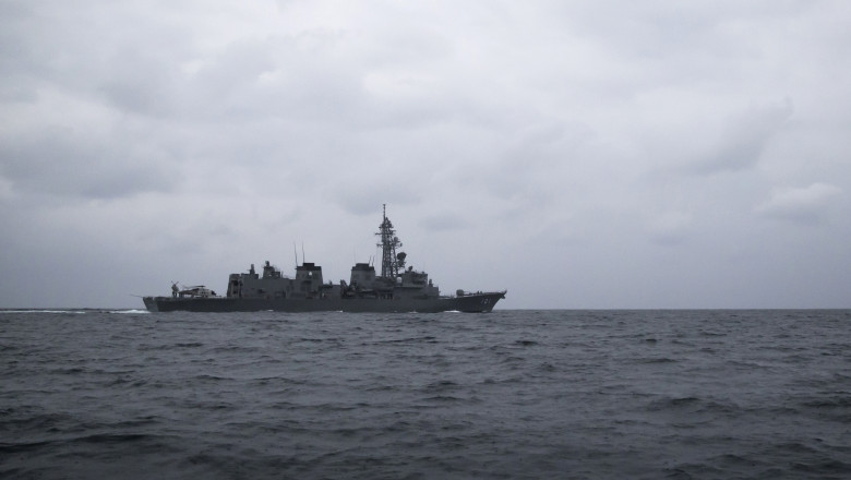 Royal Navy Frigate HMS Montrose Participate In Joint Military Exercises