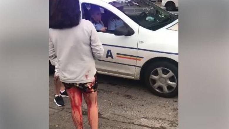 minora-sange-picioare-galati-masina-politie