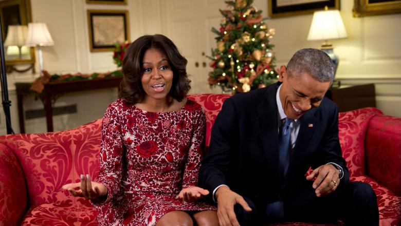 obama rade cu michelle