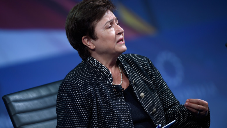 Directorul general al Fondului Monetar Internaţional, Kristalina Georgieva.